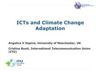 ICTs and Climate Change Adaptation