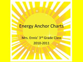 Energy Anchor Charts