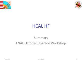HCAL HF