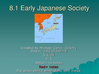 8.1 Early Japanese Society