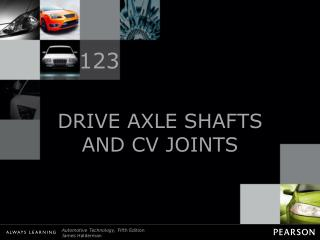 DRIVE AXLE SHAFTS AND CV JOINTS