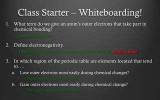 Class Starter  � Whiteboarding!