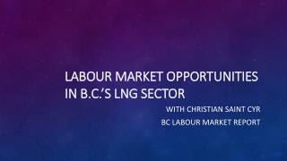 Labour Market Opportunities in B.C.'s LNG Sector