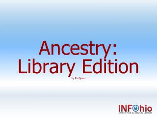 Ancestry:  Library Edition by  ProQuest
