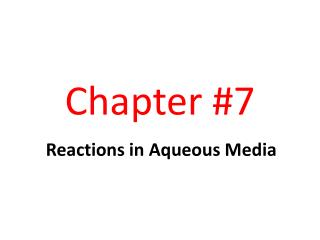 Chapter #7
