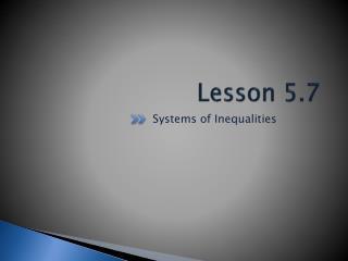 Lesson 5.7