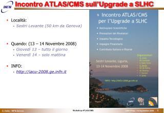 Incontro ATLAS/CMS sull'Upgrade a SLHC