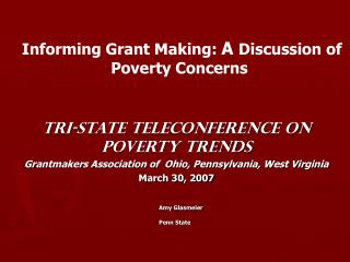 Amy Glasmeier Penn State