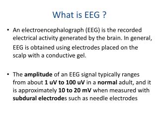 What is EEG ?