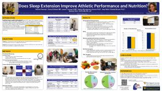 Does Sleep Extension Improve Athletic Performance and Nutrition?