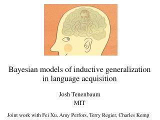 Bayesian models of inductive generalization in language acquisition Josh Tenenbaum MIT