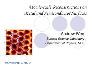 Atomic-scale Reconstructions on Metal and Semiconductor Surfaces