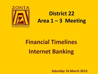 District 22 Area 1 – 3  Meeting