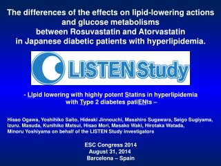 The differences of the effects on lipid-lowering actions and glucose metabolisms