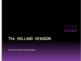 The HOLLAND HEXAGON