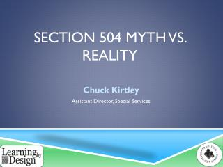 Section 504 Myth Vs. Reality