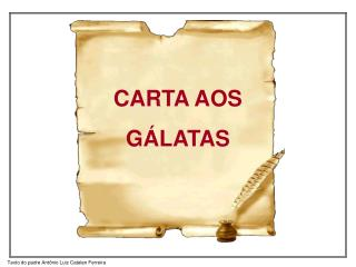 CARTA AOS GÁLATAS