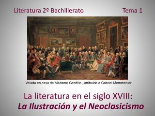 Literatura 2º Bachillerato Tema 1