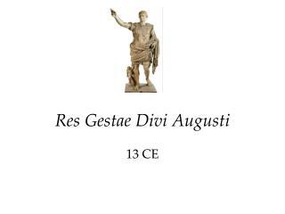 Ppt prokop divi powerpoint presentation id 3567684 - Res gestae divi augusti ...