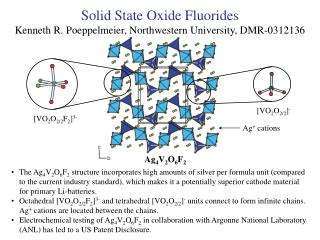 Solid State Oxide Fluorides Kenneth R. Poeppelmeier, Northwestern University, DMR-0312136