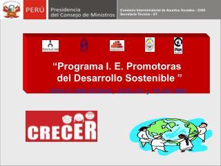 """Programa I. E. Promotoras   del Desarrollo Sostenible """
