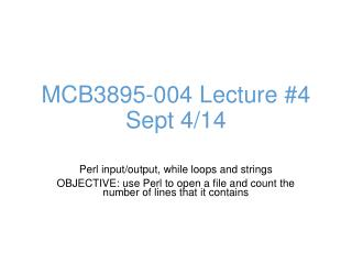 MCB3895-004 Lecture #4 Sept 4/14