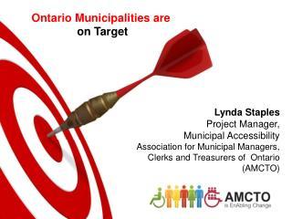 Ontario Municipalities are  on Target