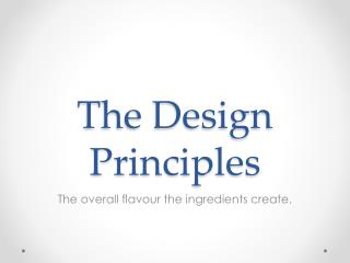 The Design Principles