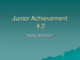 Junior Achievement  4.2