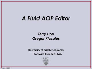 A Fluid AOP Editor
