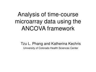 Analysis of time-course microarray data using the ANCOVA framework
