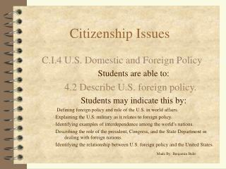 Citizenship Issues