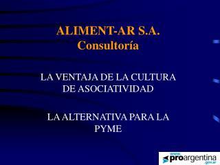 ALIMENT-AR S.A. Consultoría