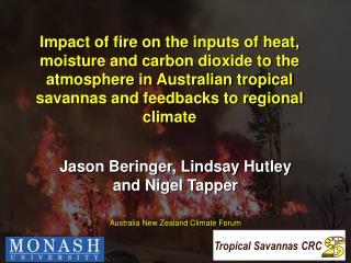 Jason Beringer, Lindsay Hutley and Nigel Tapper