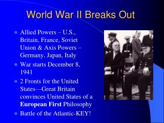World War II Breaks Out