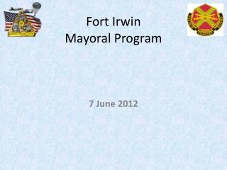 Fort Irwin  Mayoral Program