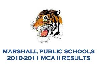 Marshall Public  SchoolS 2010-2011 MCA II Results