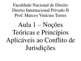 Faculdade Nacional de Direito Direito Internacional Privado II Prof. Marcos Vinícius Torres