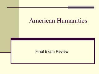 American Humanities