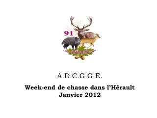A.D.C.G.G.E. Week-end de chasse dans l'Hérault   Janvier 2012