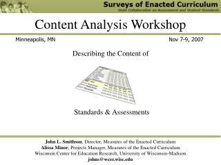 Content Analysis Workshop