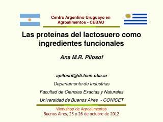 Workshop de Agroalimentos Buenos Aires, 25 y 26 de octubre de 2012