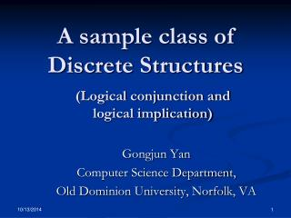 A sample class of Discrete Structures