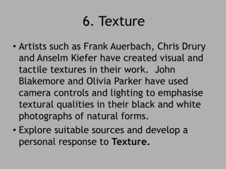 6. Texture