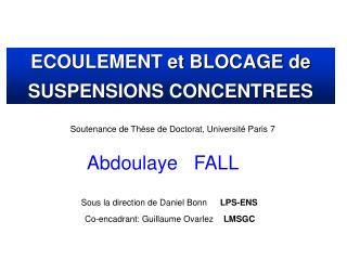Soutenance de Thèse de Doctorat, Université Paris 7