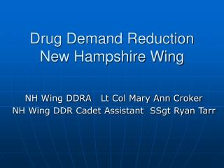 Drug Demand Reduction New Hampshire Wing