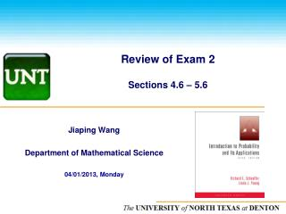 Review of Exam 2 Sections 4.6 – 5.6