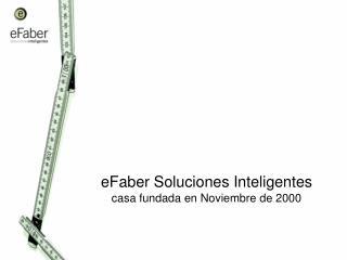 eFaber Soluciones Inteligentes casa fundada en Noviembre de 2000