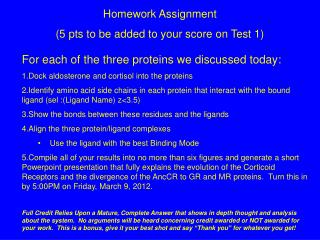 Homework Assignment (5  pts  to be added to your score on Test 1)