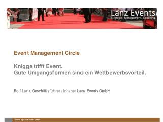 Event Management Circle